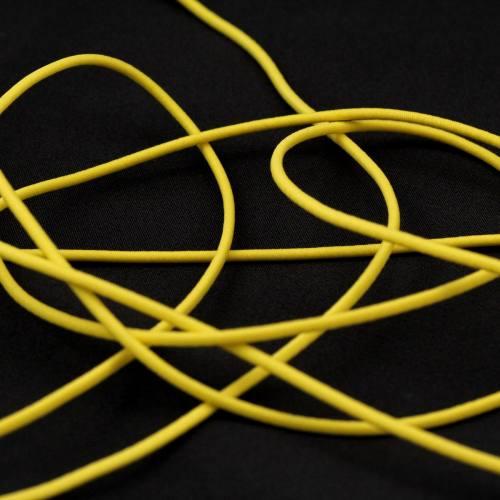 Cordon élastique 2 mm jaune