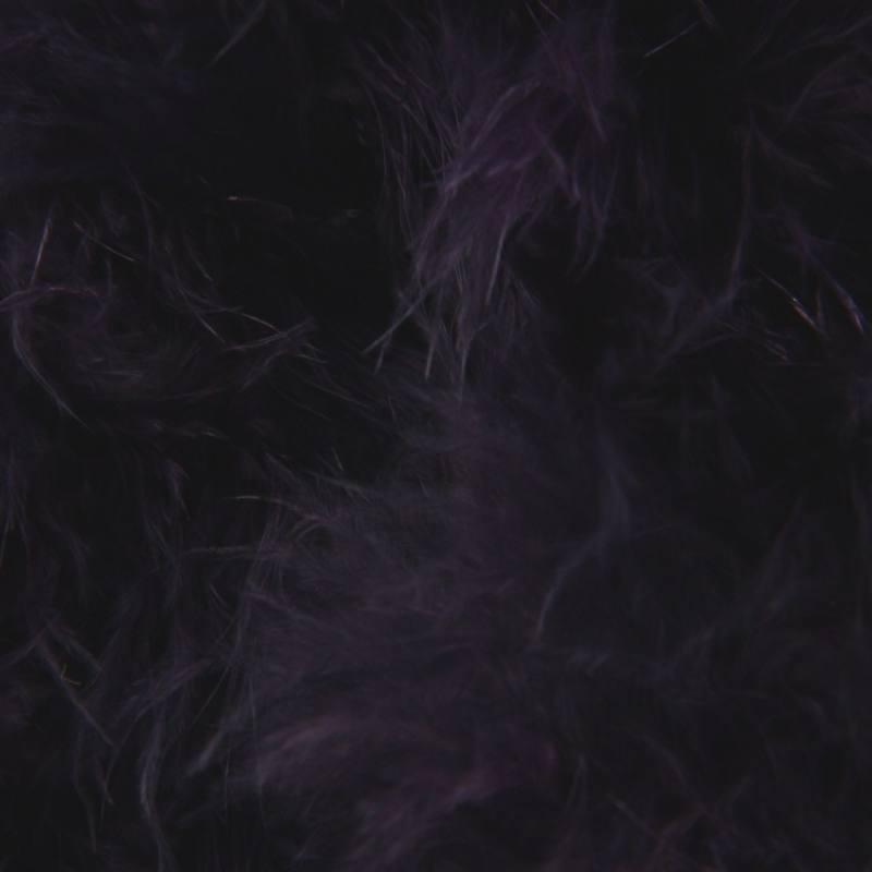 Marabou violet foncé de 10 mètres