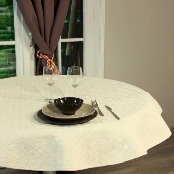Protège-table sous nappe antidérapant écru