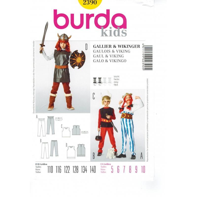 Patron Burda n°2390 carnaval : Viking Taille : 110-140