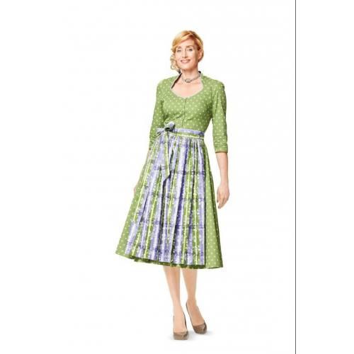 Patron Burda N°7084 style : Robe Taille : 36-50