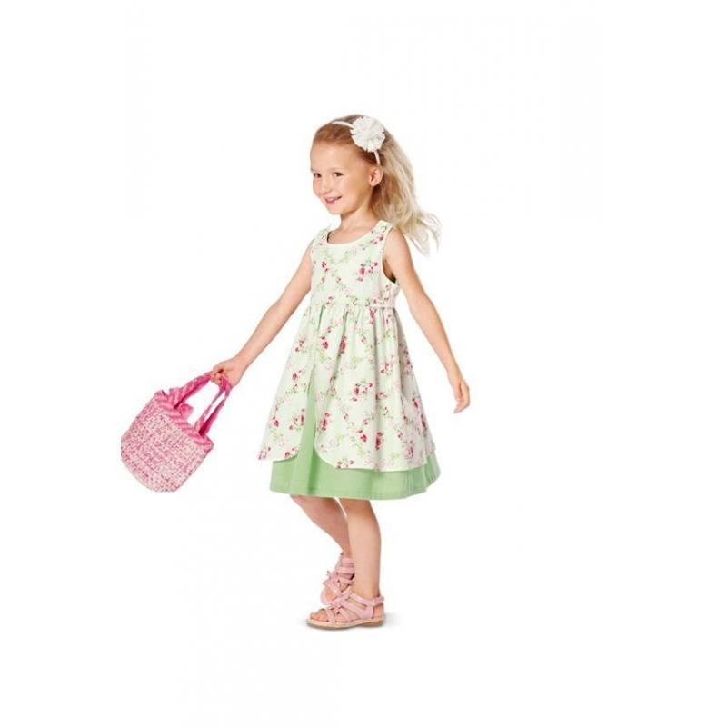 Patron N°9460 Burda kids : Robe et combinaison Taille : 2 à 6 ans