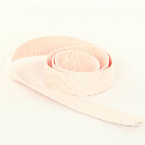 Sangle Coton 30mm rose clair