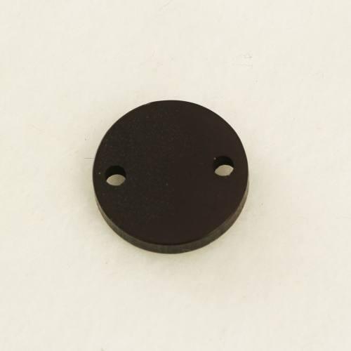 Pampille plastique 2 trou noire 15mm