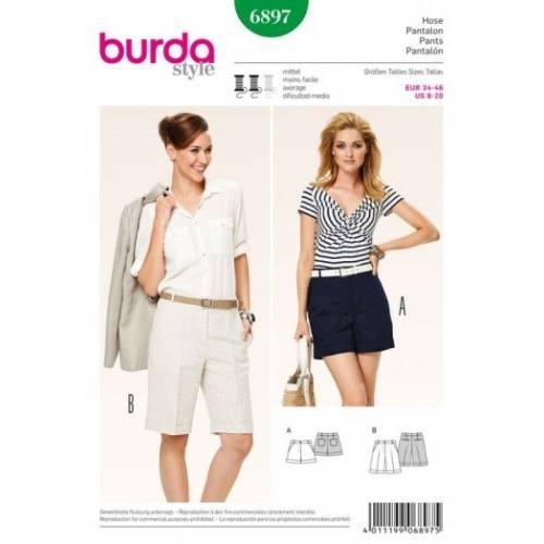 Patron Burda 6897 : Pantalon 34-46