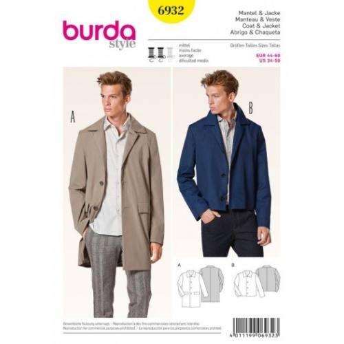 Patron Burda 6932 : Manteau et veste 44-60