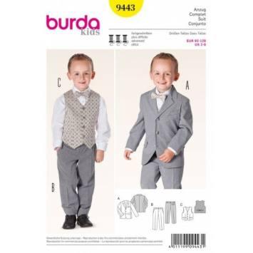 Patron Burda 9443 : Costume 2 ans à 8 ans