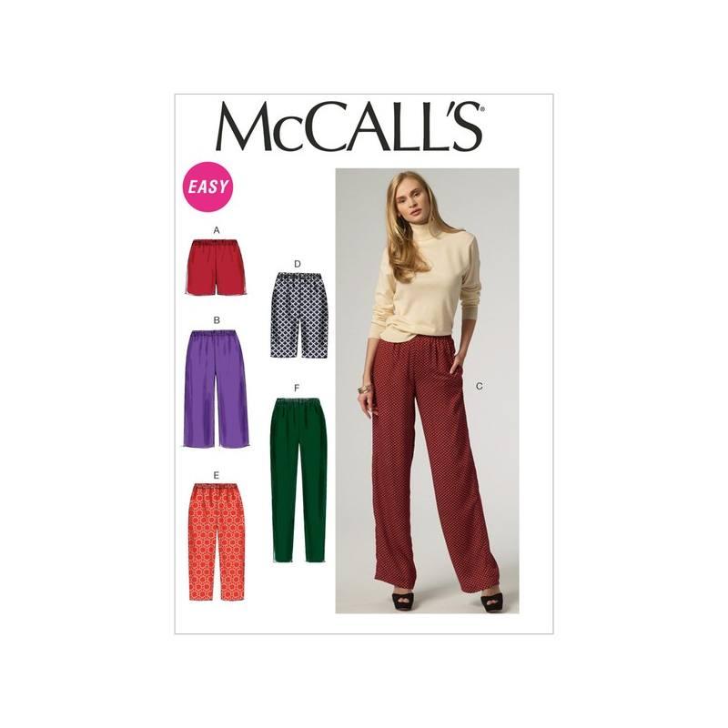 Patron McCall's M6843 : Short et pantalon XS, S et M