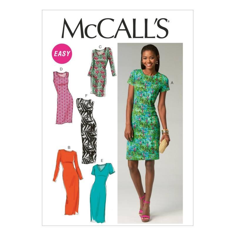 Patron McCall's M6886 : Robes T34 à 42