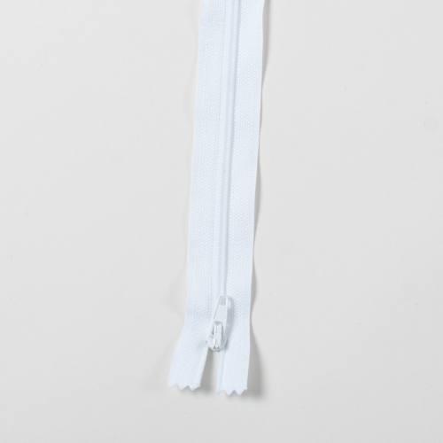 Fermeture 25 cm Polyester non séparable blanc col 101