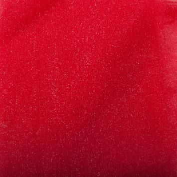 Tulle rouge paillettes 270 cm