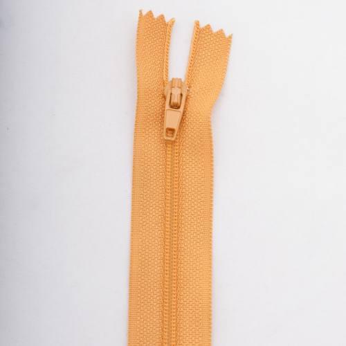 Fermeture 10 cm polyester non séparable jaune Col 108