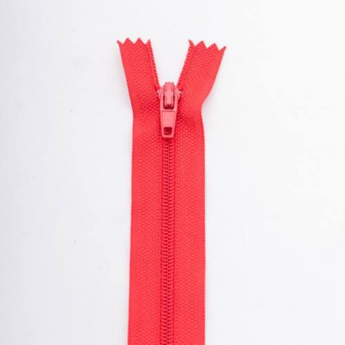 Fermeture 30 cm Polyester non séparable rouge col 113