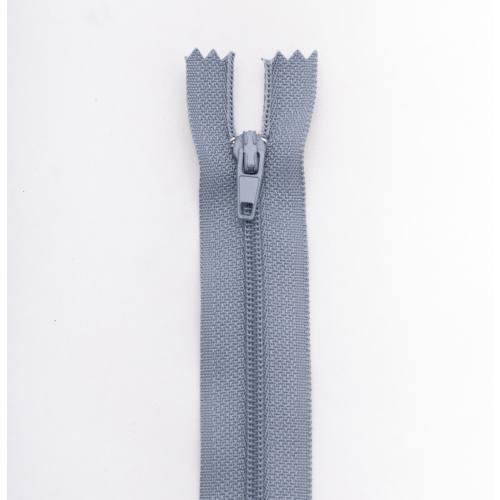 Fermeture 25cm Polyester non séparable gris col 170