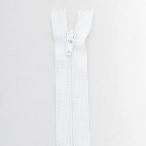 Fermeture 15 cm polyester non séparable blanc col 101