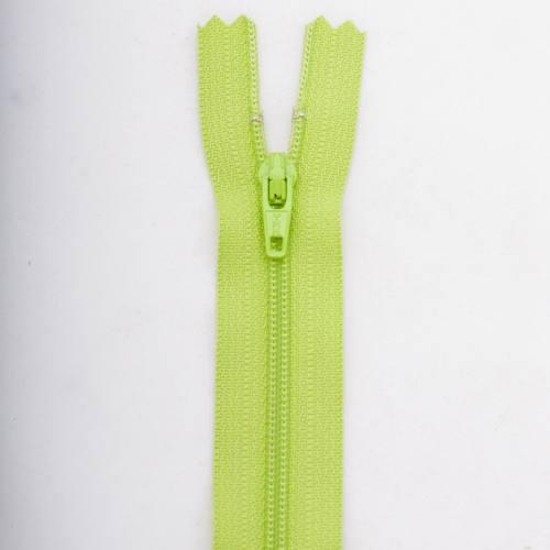 Fermeture 30cm Polyester non séparable vert col 177