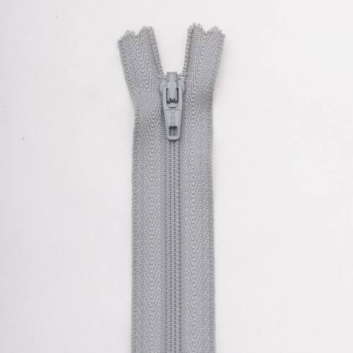 Fermeture 10cm Polyester non séparable gris col 168