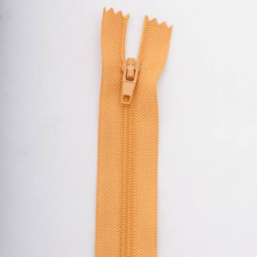 Fermeture 25 cm polyester non séparable jaune Col 108