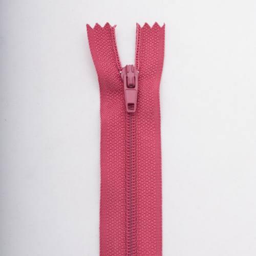 Fermeture 15 cm polyester non séparable vieux rose Col 123