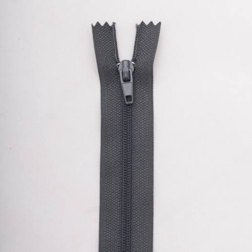 Fermeture 40 cm Polyester non séparable gris col 173
