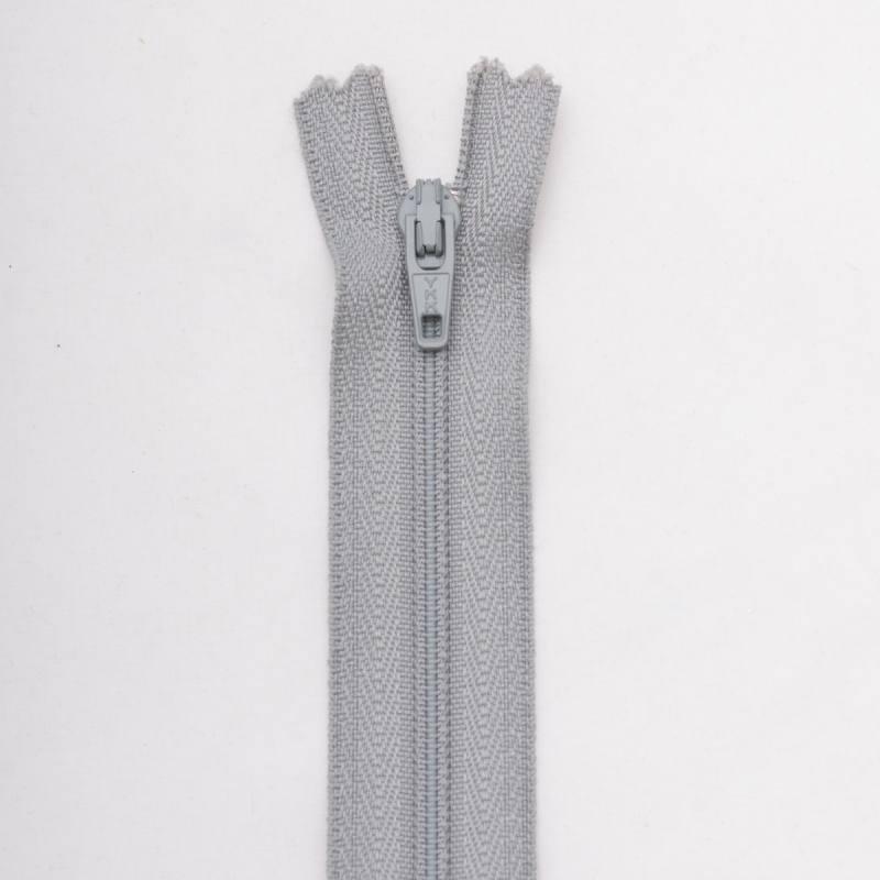Fermeture 40 cm Polyester non séparable gris col 168