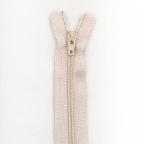 Fermeture 25 cm polyester non séparable beige col 155