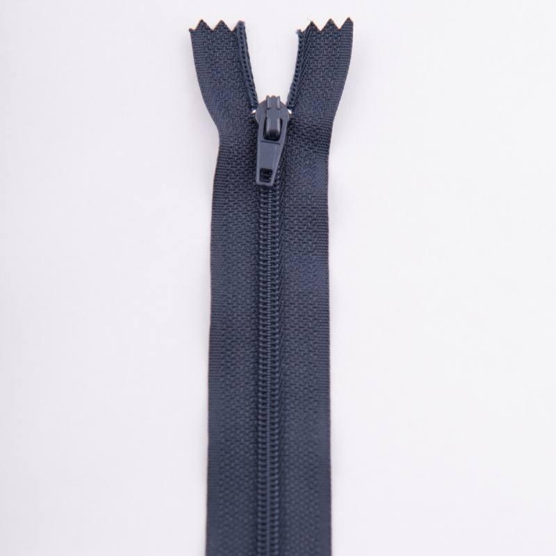 Fermeture 20 cm polyester non séparable bleu col 147