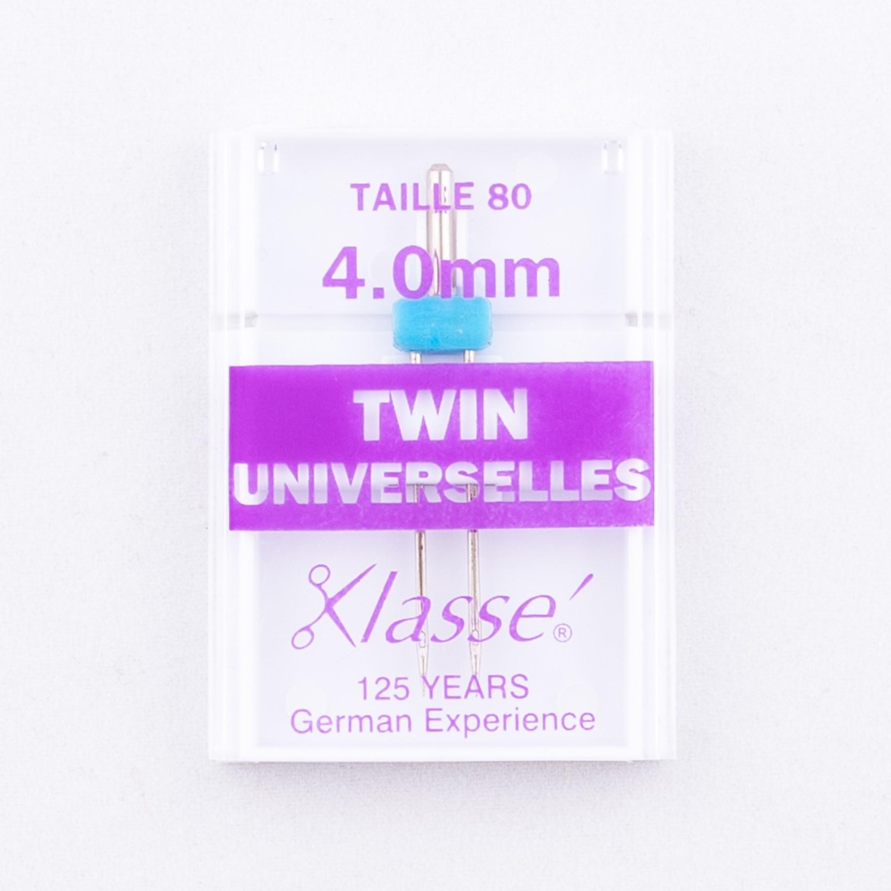 Aiguilles machines twin universelles 80/4.0mm