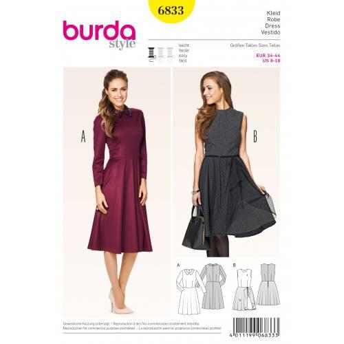 Patron Burda 6833 : Robe T34 à 44
