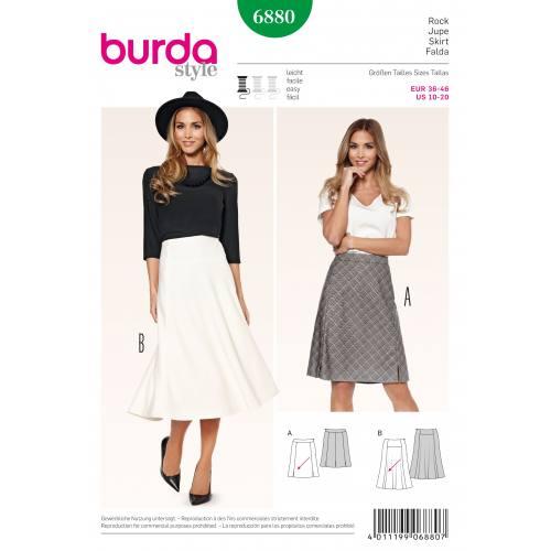 Patron Burda 6880 : Jupe T36 à 46