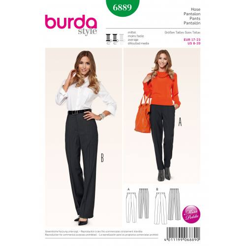 Patron Burda 6889 : Pantalon Taille 34-46