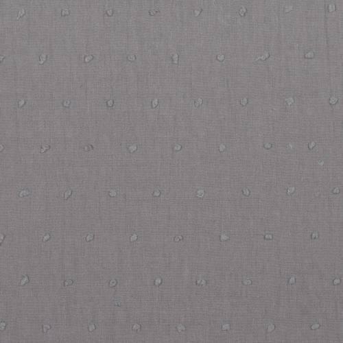 Voile de coton plumetis gris