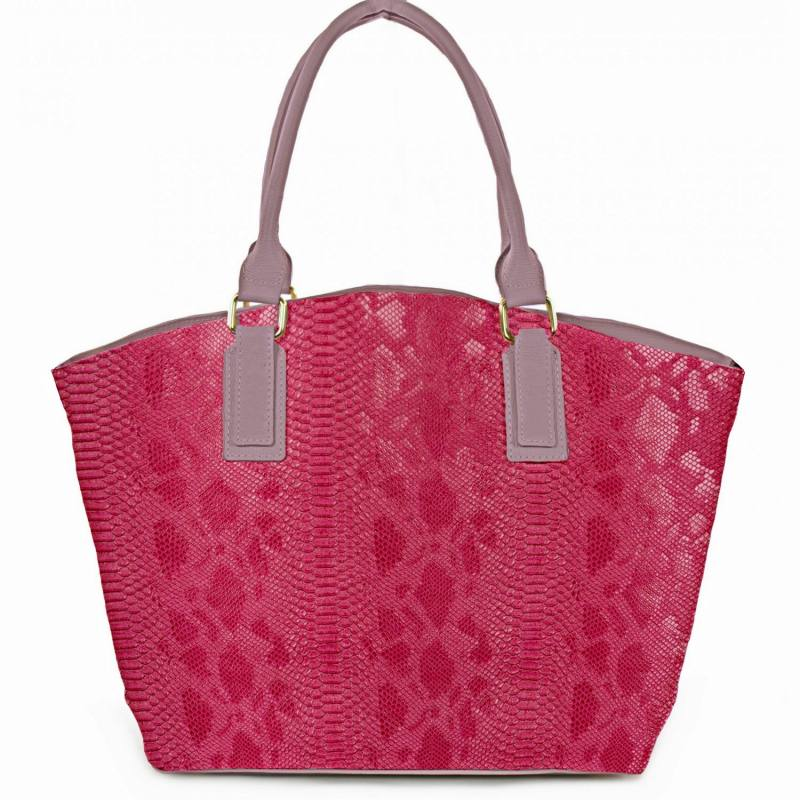 Simili cuir Dragon fuchsia