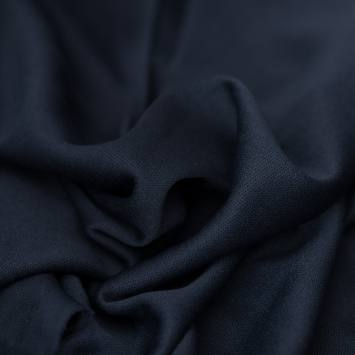 Maille extensible unie bleu marine