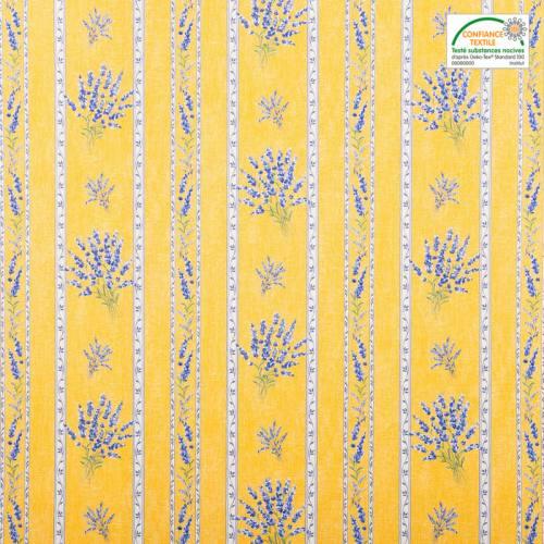 Tissu provençal jaune Valensole