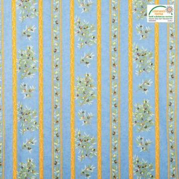 Tissu provençal bleu Clos des oliviers