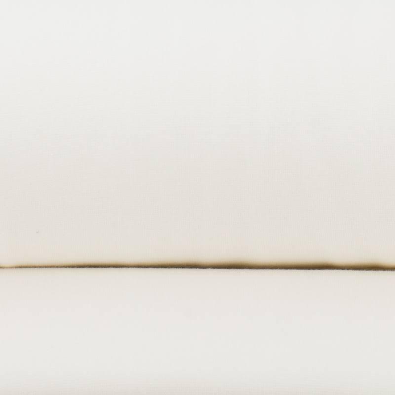 Tissu tubulaire bord-côte écru