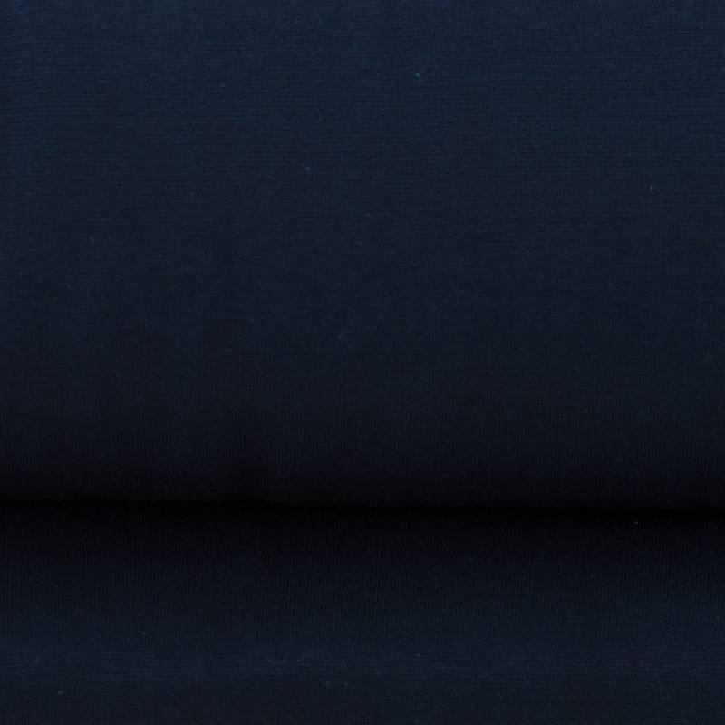 Tissu tubulaire bord-côte bleu foncé