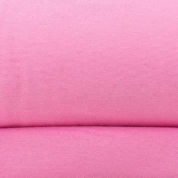 Tissu tubulaire bord-côte rose