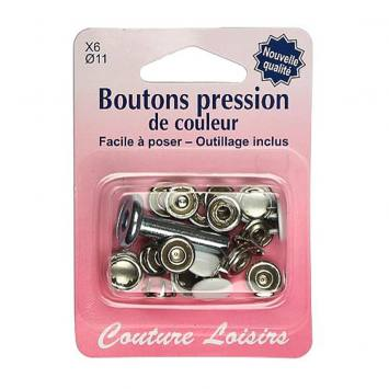 Kit de base boutons pression couleur blanc x6