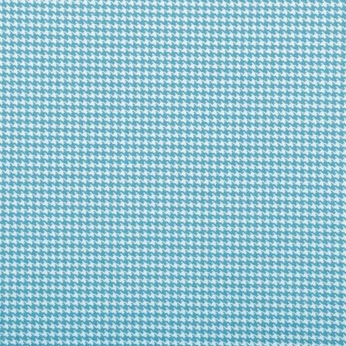 Coton pied de poule turquoise