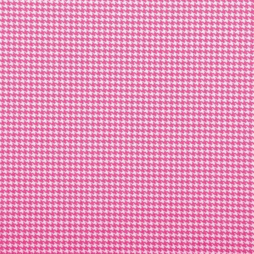 Coton pied de poule rose