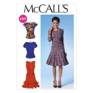 Patron Mc Call's M7046: Haut et robe Taille: 34-42