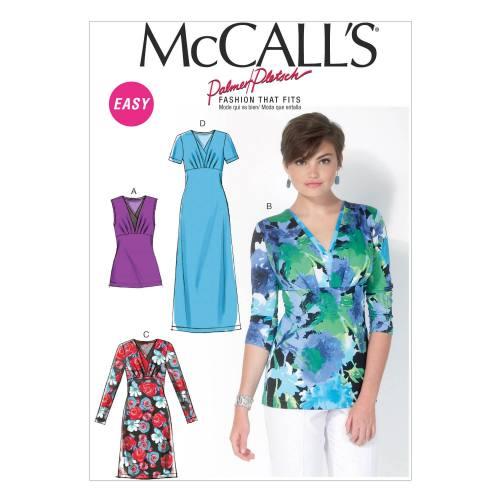 Patron Mc Call's M7092: Haut et robe Taille: 36-44