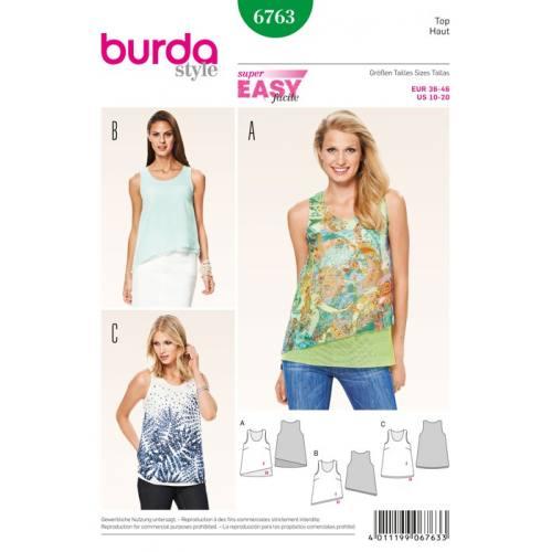Patron N°6763 Burda style : Haut Taille : 36-46