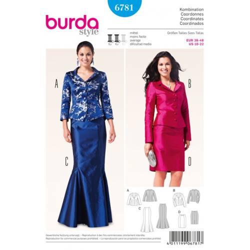 Patron N°6781 Burda style : Ensemble, coordonnes Taille : 36-48