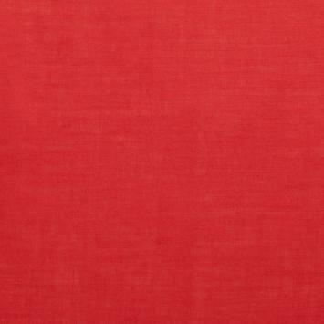 Voile de coton rouge