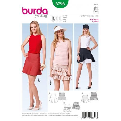 Patron N°6796 Burda Style : Jupe Taille: 34-44