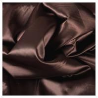 Satin uni chocolat 110cm