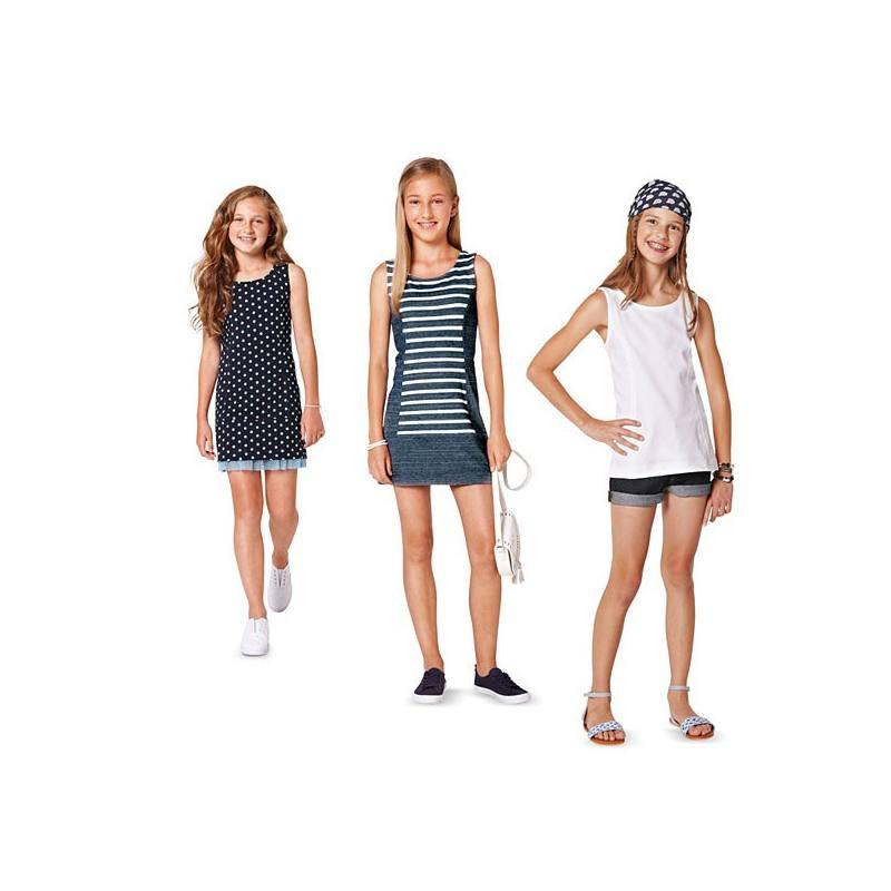 Patron N°9418 Burda Kids : Tee shirt et robe Taille: 122cm à 158cm